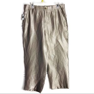 Gap Gold Girlfriend Cropped Mid Rise Pants Size 12